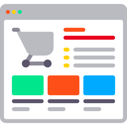 Graphic of shopping cart page.