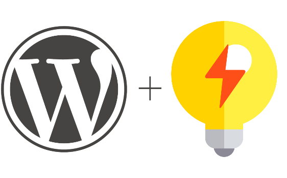 Graphic of WordPress logo and idea